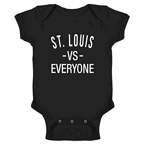 St Louis vs Everyone Sports Fan Black 6M Infant Bodysuit