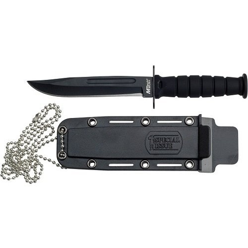 MTech USA MT-632DB Fixed Blade Knife, Black Point Blade with Handle,