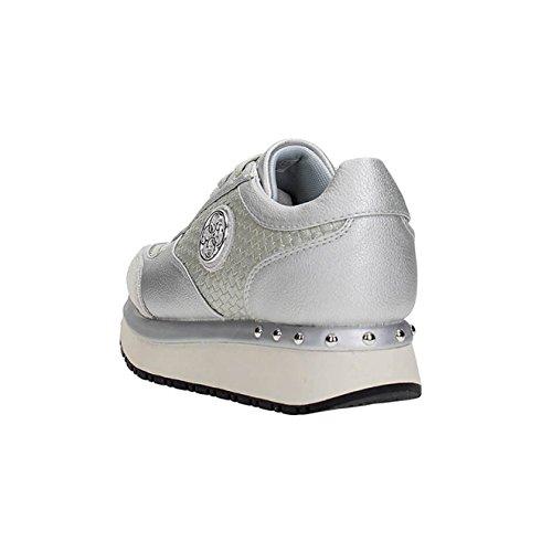 c10d6b20f4b79e ... Guess Chaussures Femme Baskets Tiffany Tressé Argent Fltif1ele12 N ° 36