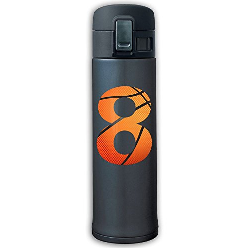 Sports Water Bottle 304 Stainless Steel Vacuum Insulated Leak Proof Yellow Number 8 Camping Travel Thin Thermoses 500ML