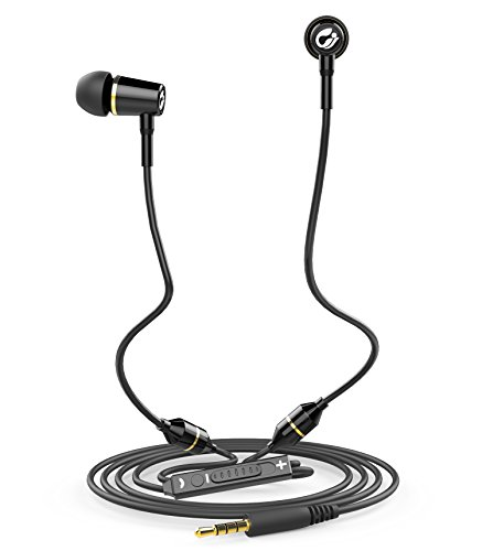 AirTube Anti Radiation Headset - EMF Protection Headphones Earbuds Earphones with Mic and Volume Control Carrying Case, Black, 2018 Newly Upgraded