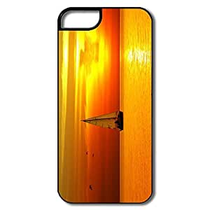 Customize Love Silicone Sailboat Sunset Sea IPhone 5/5s Case For Birthday Gift
