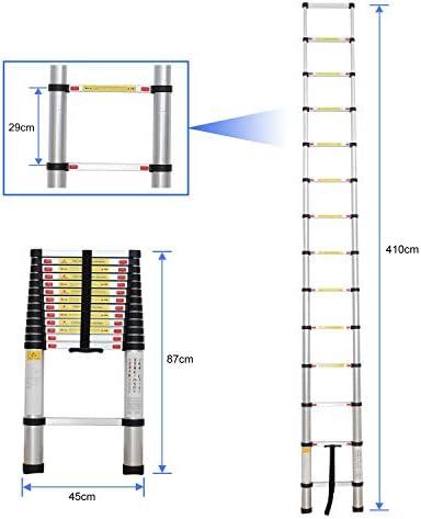 Sotech - Escalera Plegable, Escalera Telescópica, 4,1 Metro(s), Bolsa de transporte GRATIS, EN 131, Carga máxima: 150 kg, Estándar/Certificación: EN131: Amazon.es: Hogar