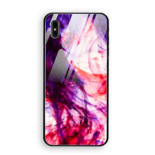 Bloody Halloween iPhone X Case, Tempered Glass Hard Back Cover with Soft TPU Bumper Edge Protection Support Wireless -
