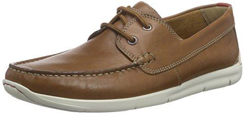 Leather Karlock Bateau Chaussures Homme Clarks Marron Step tan AvqSBPT