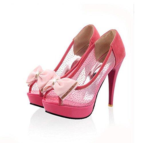 Sandali Estate Nuovo impermeabile da donna Mouth scarpe Grandi red con Fish impermeabile codice Tacco XDGG Tacco piccolo Mesh UqwAWt