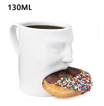 Amazon.com | 1 PC Creative Coffee Mug With Biscuit Pocket Mugs ...