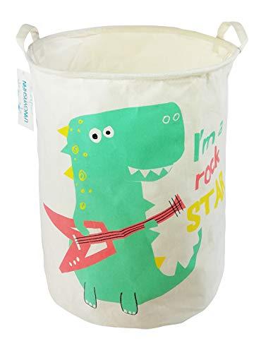 Dinosaur Book Basket (Storage Bin,Canvas Fabric Collapsible Organizer Basket for Laundry Hamper,Toy Bins,Gift Baskets, Bedroom, Clothes,Baby Nursery (Dinosaur))