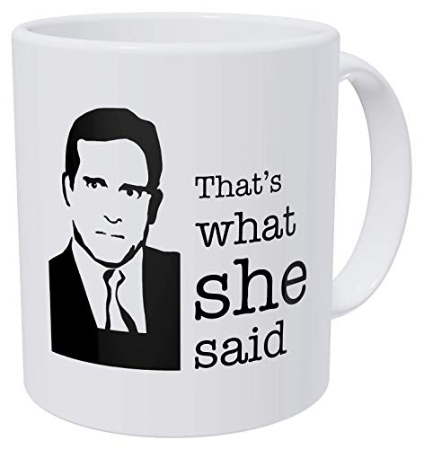 della Pace That's What She, Office, Boss 11 Ounces Funny Coffee Mug Gag Gift]()