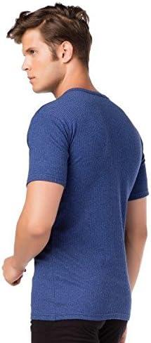 Camiseta interior t/érmica de manga corta para hombre tejido suave cardado Stylenmore