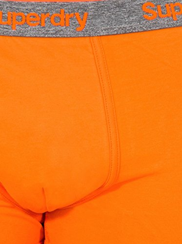 Superdry Dreierpack Boxershorts Men ORANGE LABEL SPORT TRUNK Echo Pink Cuba Green Havna