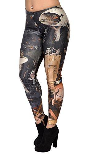 BadAssLeggings Women's Hieronymus Bosch Leggings Medium