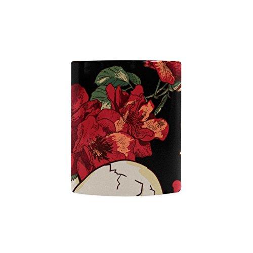 [Sugar Skull Dia De Los Muertos White Ceramic Coffee Mug Tea Cup] (Dia De Los Muertos Mariachi Costume)