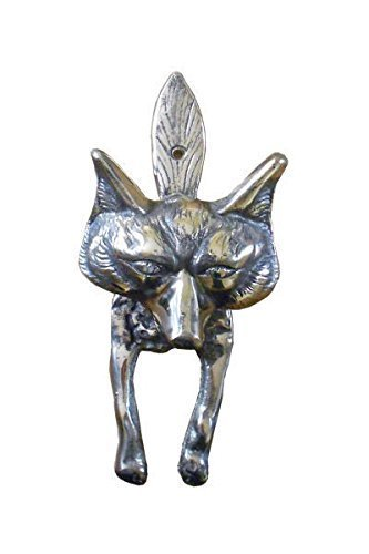 Hand Cast Solid Brass Large Door Knocker With Fox Design By Brass Foundry