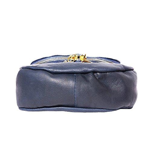 Al Azul Leather Small Market Mujer Oscuro De Bolso Para Hombro Florence Piel qSOwtx66R