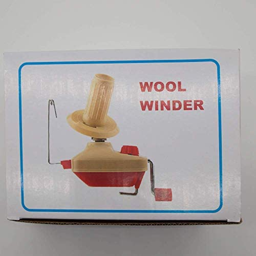 HunterBee Swift Hand Operated Wool Fiber Yarn Ball Winder Holder Least 100g/0.2lb Capacity&String Manual Bobbin Winding Tool with Metal Handle and Tabletop Clamp