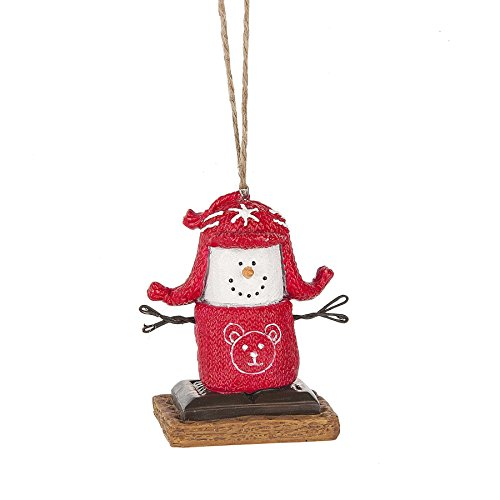 S'mores Original 2017 Ugly Sweater Snowman Ornament