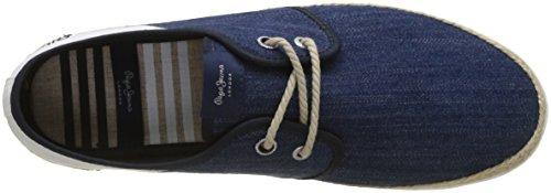 Maui Fabrics Hombre Alpargata Denim Laces Dk Azul Jeans Pepe q5wFtt