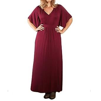 Amazon.com: Riveroy Women's Plus Size Formal V-Neck Short