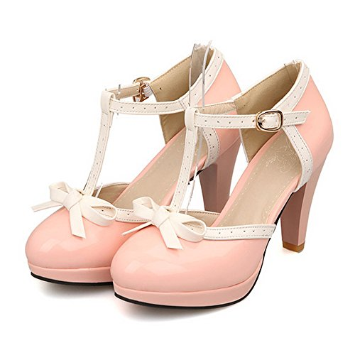 Mujeres Small Bowtie Platform Pumps Ladies Sexy High Heeled Zapatos Us 8