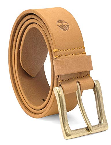 Timberland Men's 38 Mm Boot Leather Wheat Belt, Beige, 32 (Timberland Boots Tan)