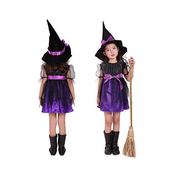 Costume Strega Bambina Ragazze Halloween Vestito con Cappello Bambino Strega Costume Abito Tutu Costume di Halloween… 2 spesavip