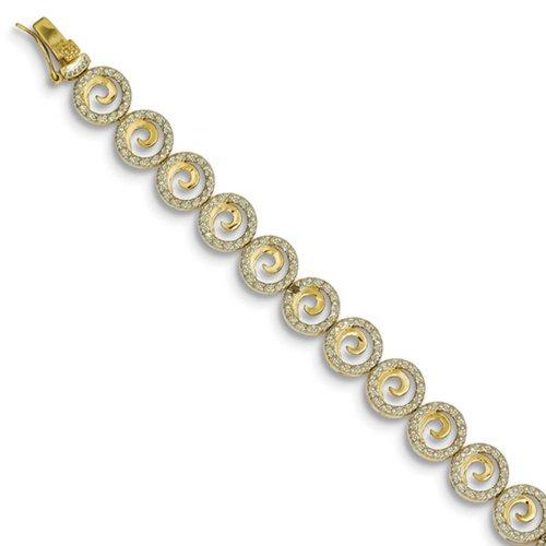 Icecarats Créatrice De Bijoux En Argent Sterling De Diamants Vermeil Cercle Accent Bracelet En 7 Pouces