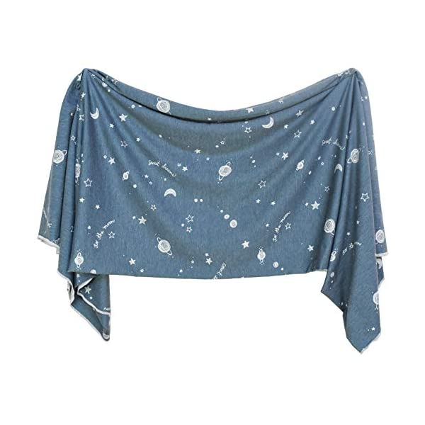 Extra Soft Knit Swaddling Receiving Blanket Starry Dreams by Village Baby
