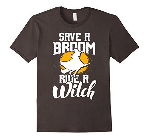 Mens Funny Halloween Costume Shirt - Save a Broom, Ride a Witch 2XL (Mens Broom Costume)