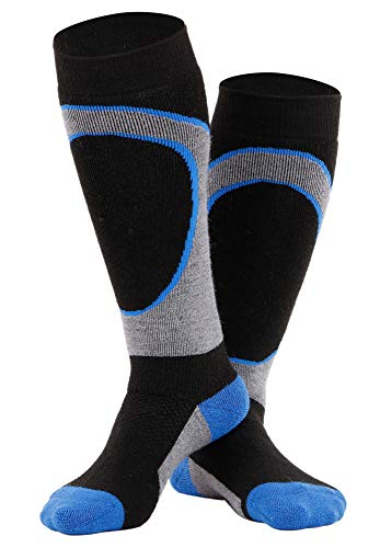 Andorra Boys Air Cushioned Merino Wool Ski Socks Full Terry Ski Socks, 6-8