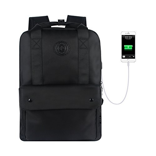 10cac6baecc0 Galleon - Louis Vuitton Black Backpack For Man College Backpack With USB  Charging Port School Bookbag Laptop Backpack