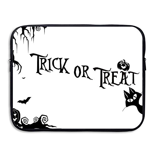 Laptop Sleeve Case Protective Bag Halloween Silhouette Printed Ultrabook Briefcase Sleeve Bags Cover For 15 Inch Macbook Pro/Notebook/Acer/Asus/Lenovo Dell/Women/Men]()