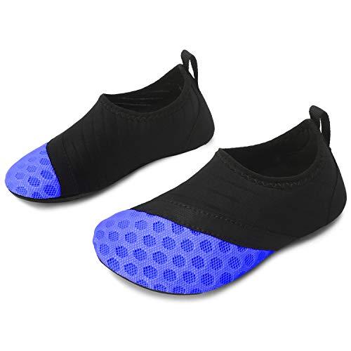 Price comparison product image L-RUN Kids Water Sports Shoes Boys Girls Quick Dry Aqua Socks Blue 3-4=EU18-19