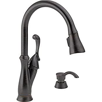 Delta 19950 RBSD DST Arabella Single Handle Pull Down Kitchen Faucet With