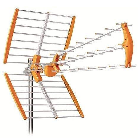 Antena TDT LTE 700 Alta Ganancia 18 dB BKM Naranja: Amazon.es ...