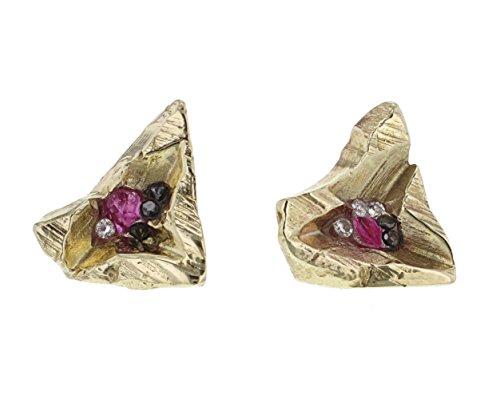 Imogen Belfield Boucles d'Oreilles Or Jaune 9carats (375/1000) Diamant Femme