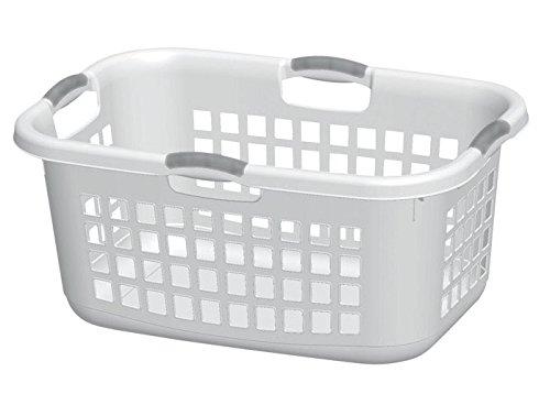 Laundry Basket Wht 2bshl by STERILITE