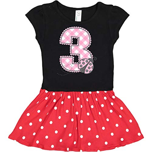 inktastic - Pink Ladybug 3rd Toddler Dress 4T Black & Red with Polka Dots 1d27a