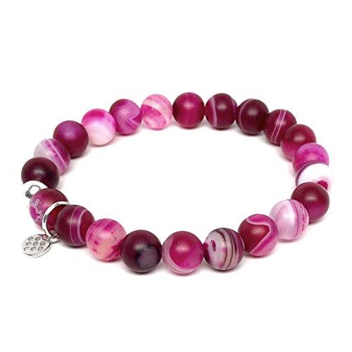 TFS Jewelry Lucy Fuchsia Agate Stretch Bracelet