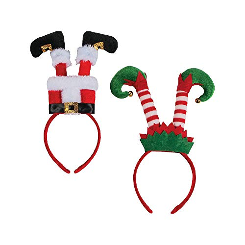 Fun Express Santa & Elf Leg Headbands - 6 Pieces -