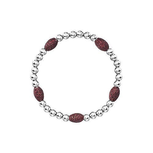 Nickel Free Costume Jewellery Uk (Red Oval Stone Beaded Bracelet)