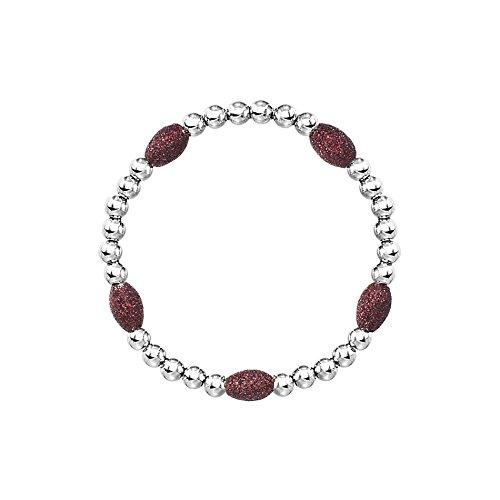 Red Oval Stone Beaded Bracelet (Michele Vintage Earrings)