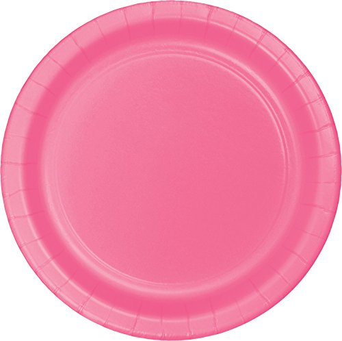 Creative Converting Touch of Color 24 Count Paper Dinner Plates, Candy Pink