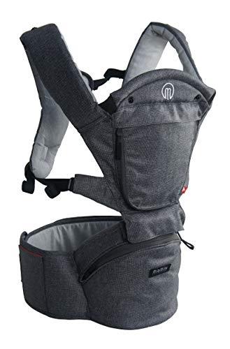 MiaMily Hipster Smart Hip Seat Babydrager met 6 draagposities, incl. ergonomisch naar voren gericht, ingebouwde opslag…