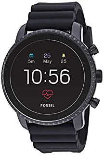Fossil Men's Gen 4 Explorist HR Heart Rate Stainless Steel and Silicone Touchscreen Smartwatch, Color: Black (Model: FTW4018) (B07G9QNYBD) | Amazon price tracker / tracking, Amazon price history charts, Amazon price watches, Amazon price drop alerts