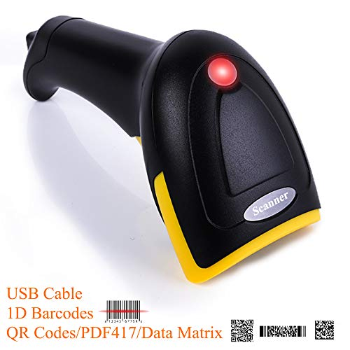 BQ-602 USB QR Code Scanner 1D Barcodes 2D PDF417 Data Matrix Automatic Scanner,USB 2.0 Plug and Scan for Supermarket Cashier Windows/Android PC,POS System