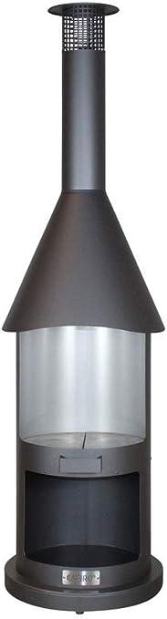 Chimenea de barbacoa de acero inoxidable CAFIRO BUFFALO BILL gris oscuro: Amazon.es: Bricolaje y herramientas