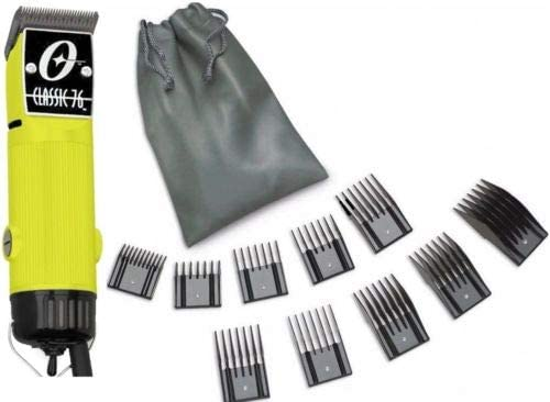 New Oster Classic 76 Yellow Color Limited Edition Hair Clipper 10 PC Comb Set