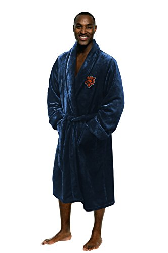 Chicago Bears Official NFL Large/X-Large Silk Touch Men's Bathrobe, Football Sports Themed, Team Logo