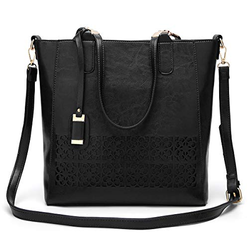 Classic Work Shoulder Bag SAMSHOWME Leather Ladies Travel Black PU Bags Capacity Tote Tote Women Large Handbags Purse for 0xOPg0